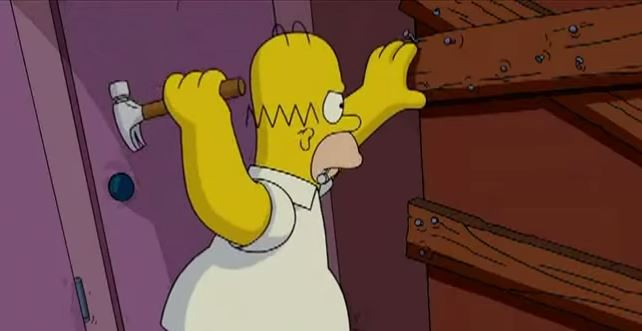 Homer s falešnou motorovkou