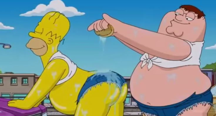 Homer Simpson a Peter Griffin
