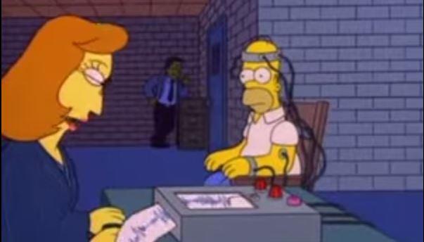 Homer na detektoru lži