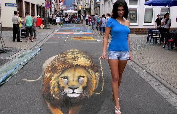 Úžasný 3D street art